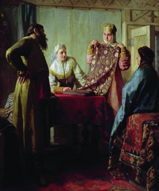 Николай Неврев. Купец и товар. Начало 1890-х