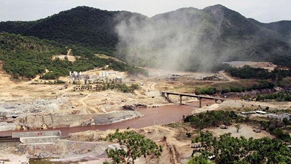 Строительство дамбы в бассейне Нила в Эфиопии