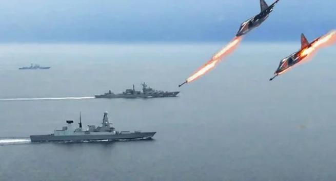 Как 17 русских истребителей «налетели» на британский эсминец – испуг до сих пор остался