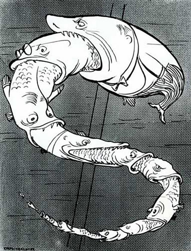 Кукрыниксы. В мире акул. 1962
