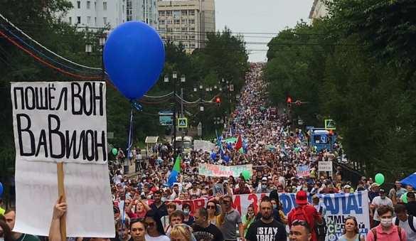 Сколько на самом деле протестовало сегодня в Хабаровске? (ВИДЕО) | Русская весна