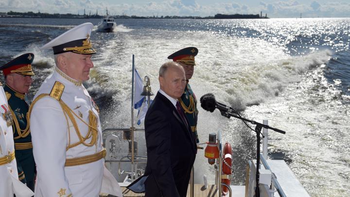 Морской парад 2020. Владимир Путин пообещал усилить флот гиперзвуком