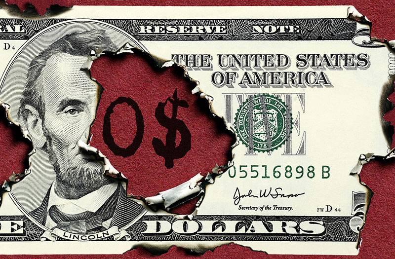 Прогноз краха доллара получили официальное обоснование в свежей статистике