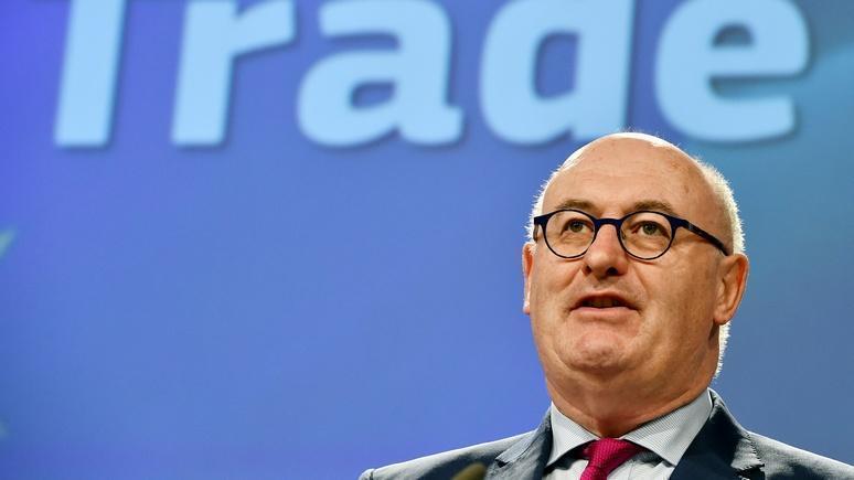 Еврокомиссар по торговле заявил о готовности ЕС ввести санкции против СШАís: еврокомиссар по торговле заявил о готовности ЕС наложить санкции на США