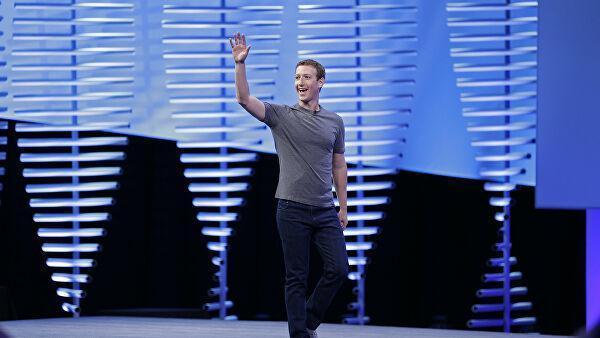 Генеральный директор Facebook Марк Цукерберг