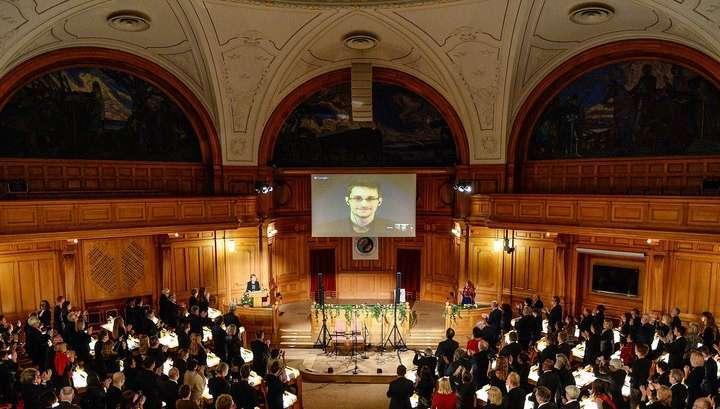 Сноуден получил «альтернативную» нобелевскую премию в Европе