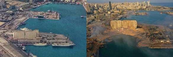 Чудовищные кадры последствий взрыва в порту Бейрута с высоты птичьего полёта (ФОТО, ВИДЕО) | Русская весна