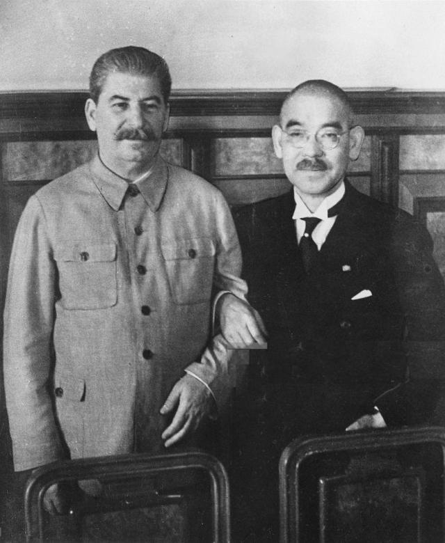 И.В. Сталин и Ёсукэ Мацуока