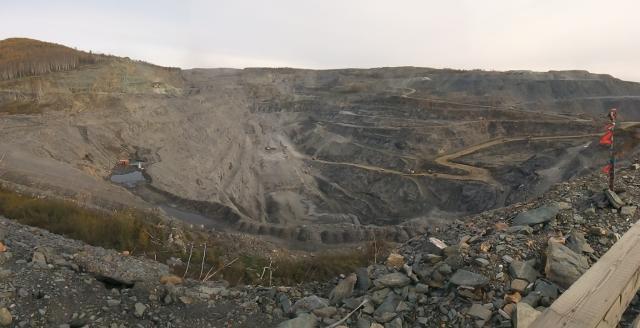Карьер рудника «Албын». Амурская область