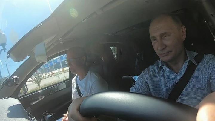 Путин проехал по трассе