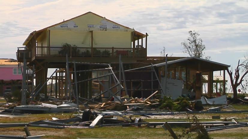 Последствия разрушительного урагана «Лаура» в США