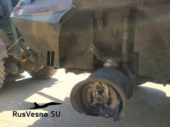Появились кадры ракетного удара по российской бронетехнике в Сирии | Русская весна