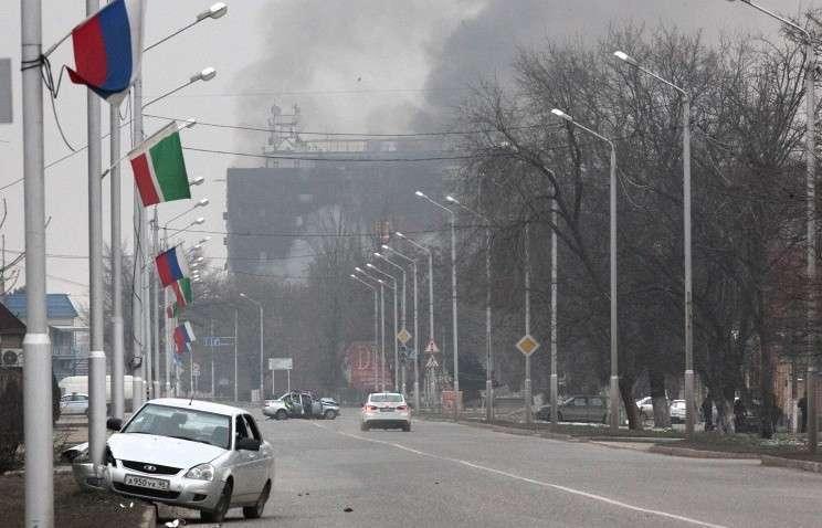 Нападение боевиков на Грозный. Онлайн-трансляция