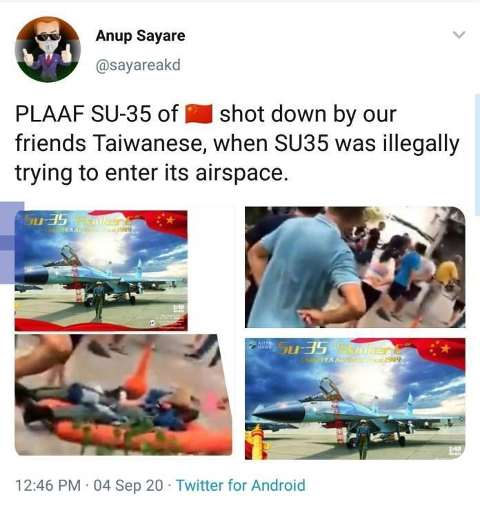 Тайвань сбил китайский Су-35, но не СУ-35, а J-10, не на Тайване, а в Китае, не сбили, а разбился