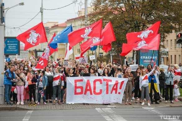 «Вован, не лезь!» – антироссийские и антипутинские лозунги на вчерашнем марше в Белоруссии (ФОТО)   Русская весна