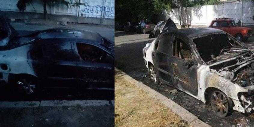 Сожженный автомобиль Янтаря