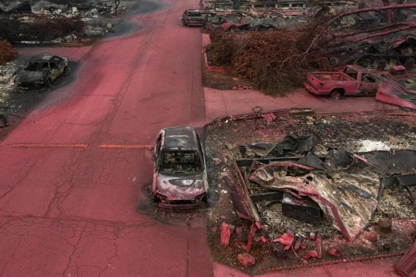 Последствия пожаров в Калифорнии напоминают ядерный Армагеддон